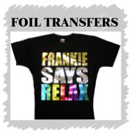 Foil Transfers are an option for your promotional t shirts
