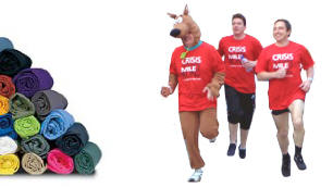 Printed t shirts for your next charity run.