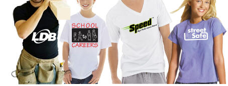 printed t shirts for corporate, school and promotional use.