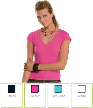 Ladies V-Neck T-Shirt H5910